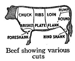 Beef cuts make steaks, ribs, hamburger, ground beef, tenderloin
